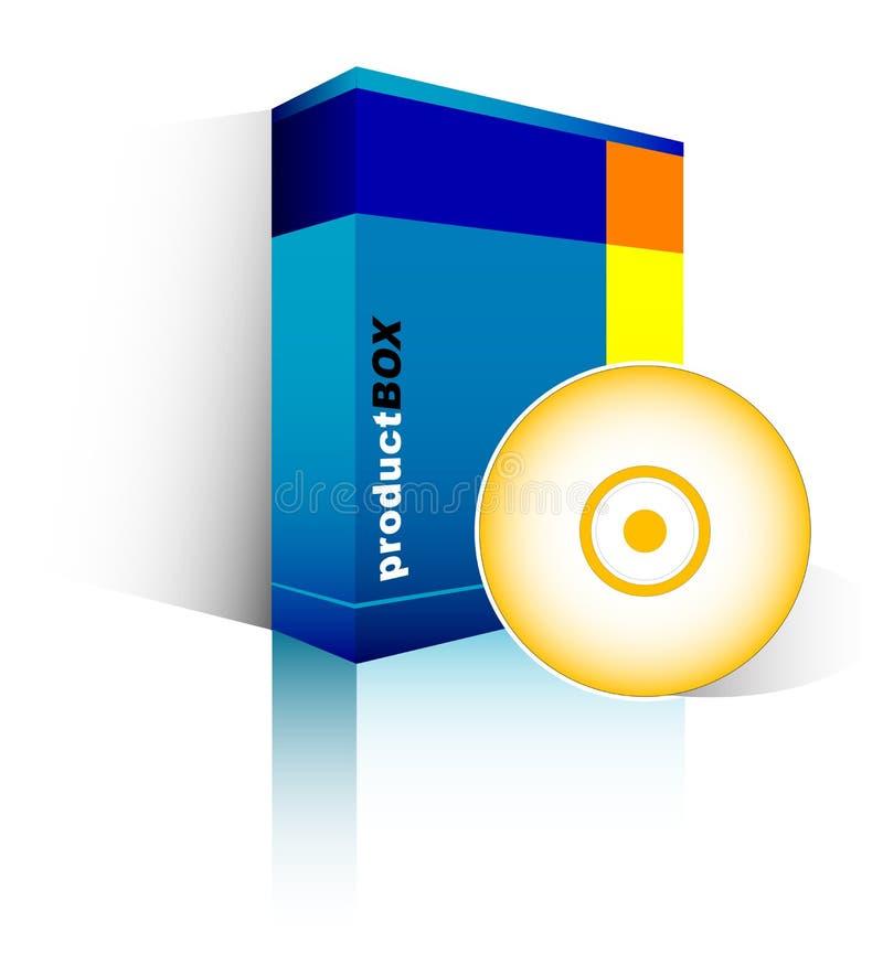 niebieski pudełka oprogramowania royalty ilustracja