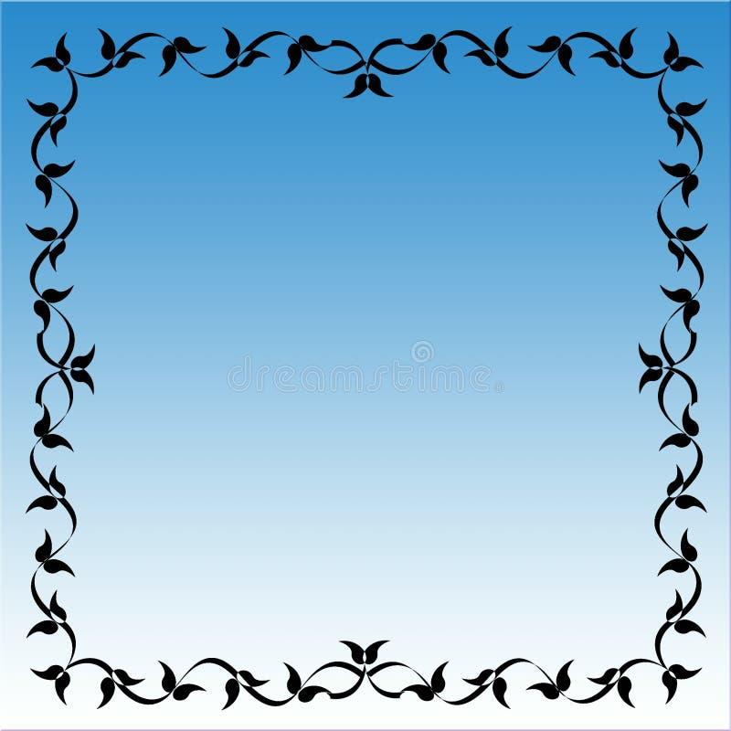 niebieski rama royalty ilustracja