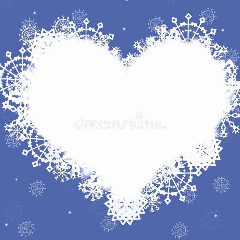 niebieski ramowy serce ilustracji