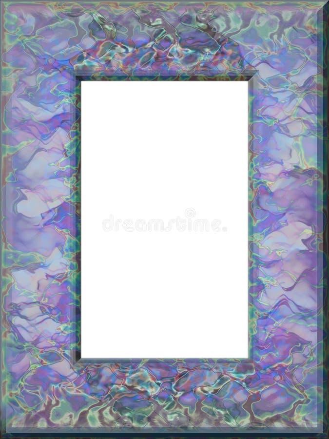 niebieski ramowych purpurowy royalty ilustracja