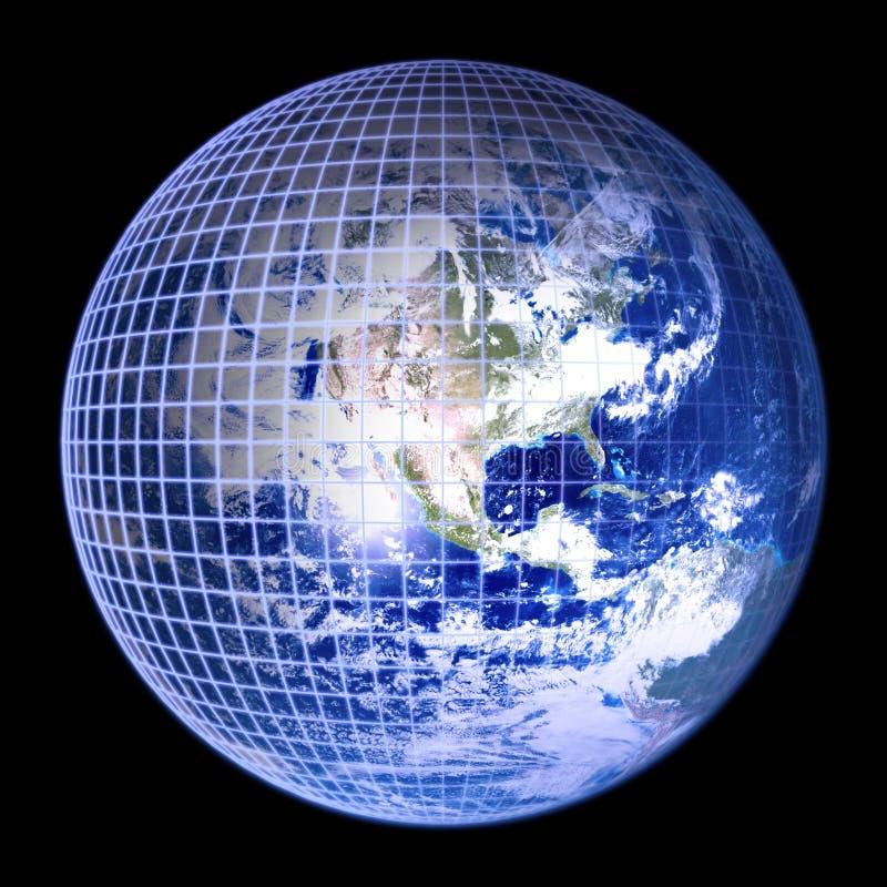 niebieski ramy globus ziemi ilustracja wektor