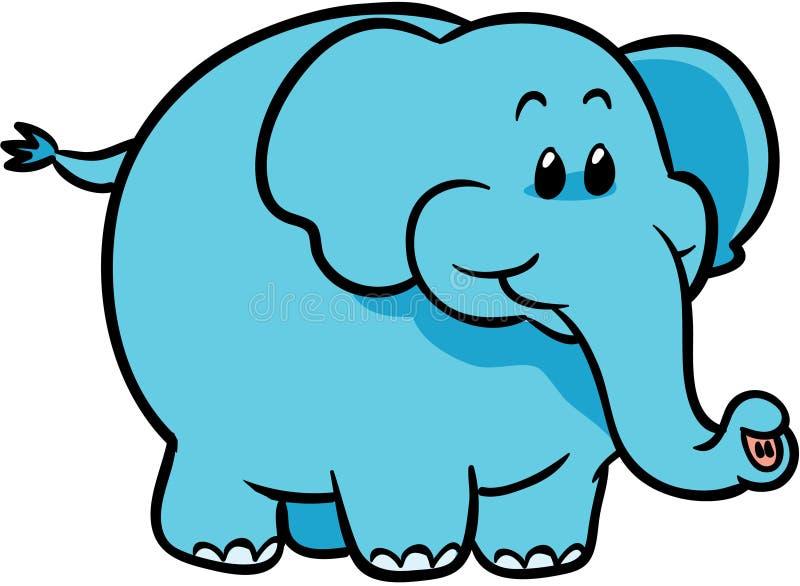 niebieski słodki słoń ilustracji wektora royalty ilustracja