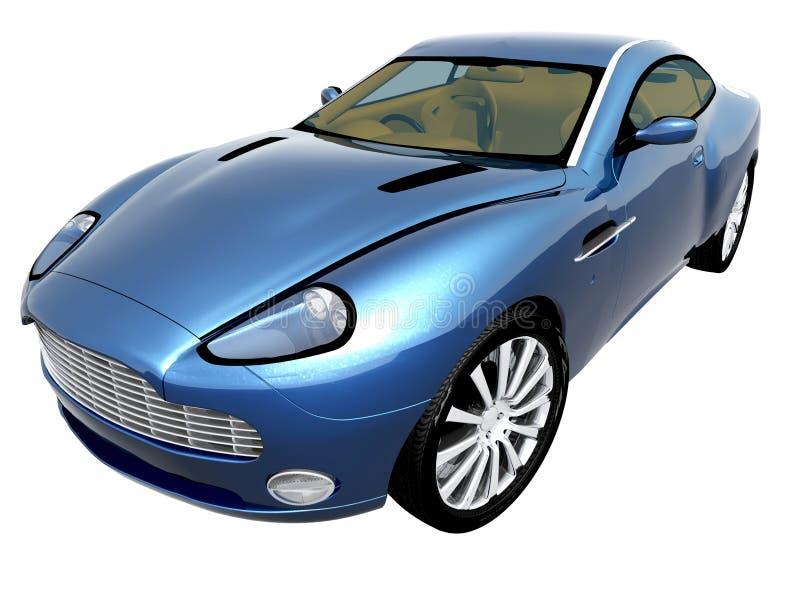 niebieski samochód 3 d obraz royalty free
