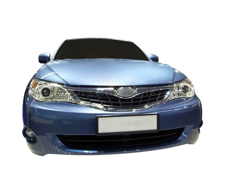 niebieski samochód szybko fotografia royalty free