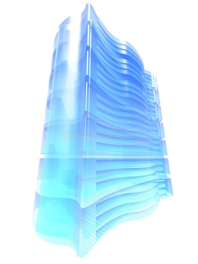 niebieski serwer z gospodarstw rolnych royalty ilustracja