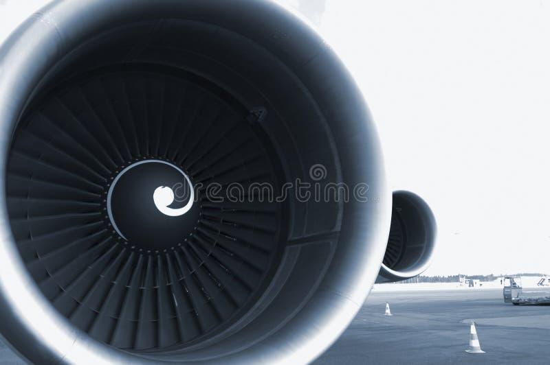 niebieski silnika samolot do nieba fotografia royalty free