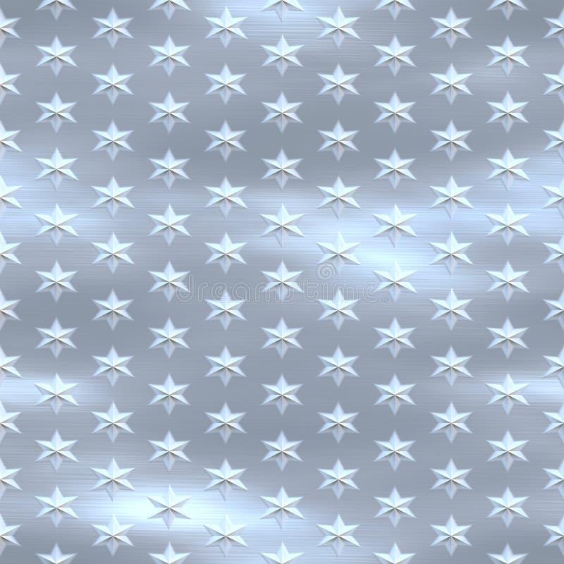 niebieski sl starfield czyste srebro royalty ilustracja