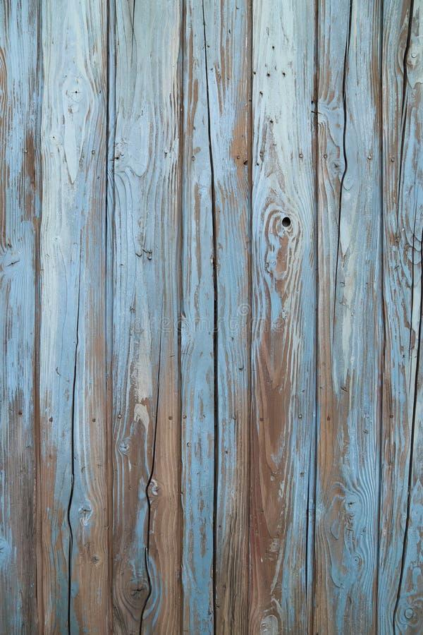 niebieski stary ściana drewna obraz stock