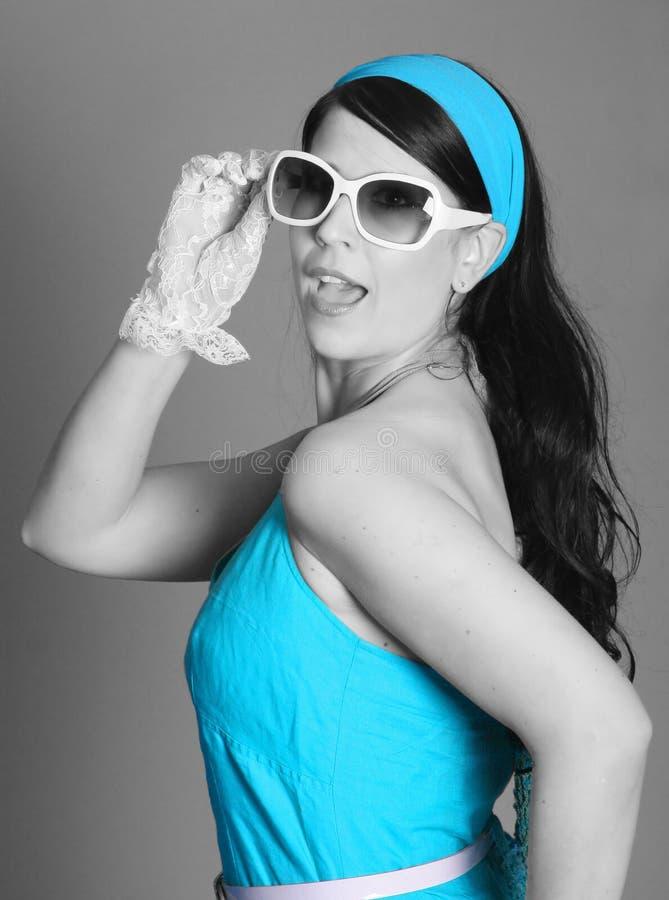 niebieski sukni model fotografia stock