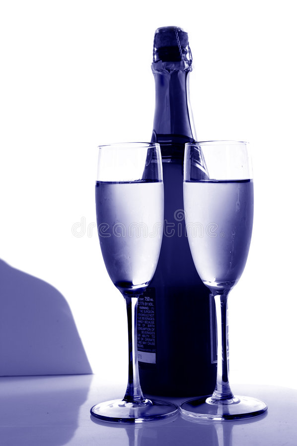 niebieski szampana obrazy stock