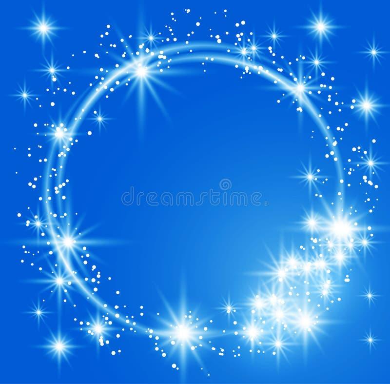 niebieski tła świecić ilustracji