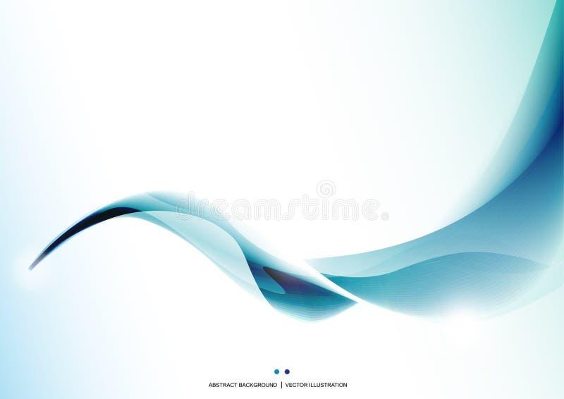niebieski tła abstrakcyjna fale Prezentaci template Projekta układ wally ilustracja wektor