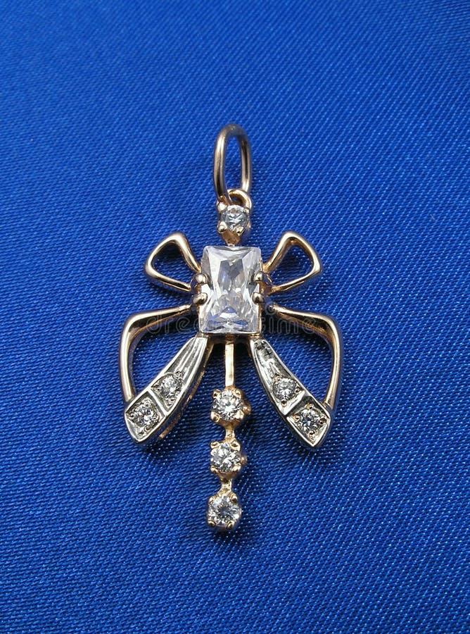 niebieski tła biżuterii obraz stock