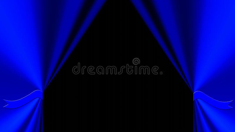 niebieski tła draperia royalty ilustracja