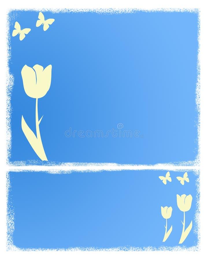niebieski tła lato royalty ilustracja