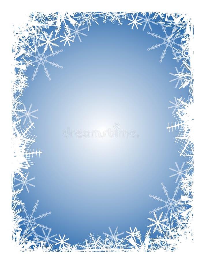 niebieski tła płatek śniegu ilustracja wektor