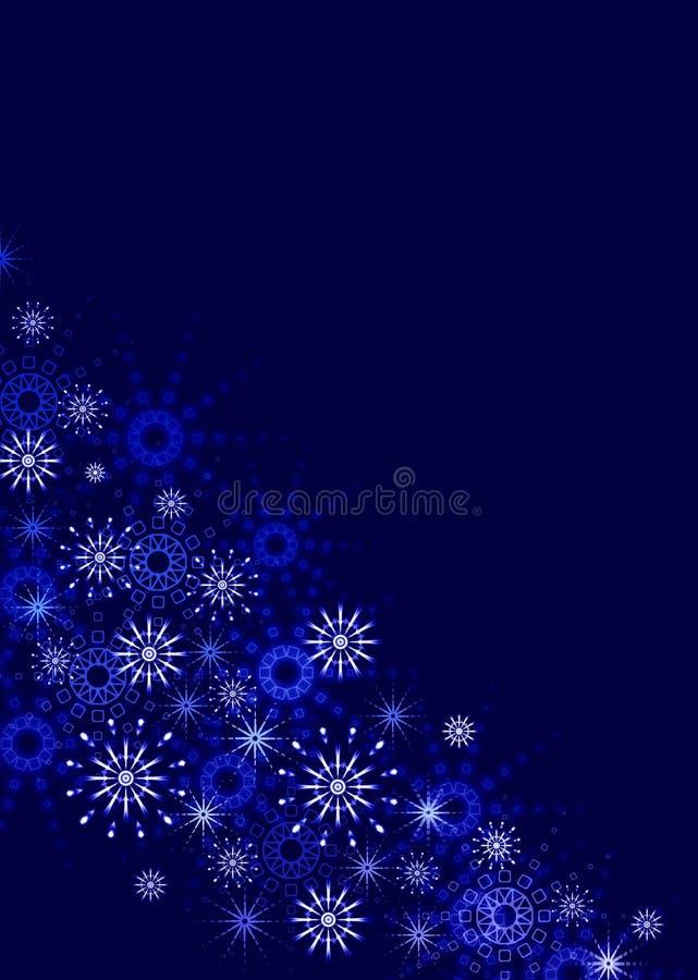 niebieski tła płatki śniegu ilustracji