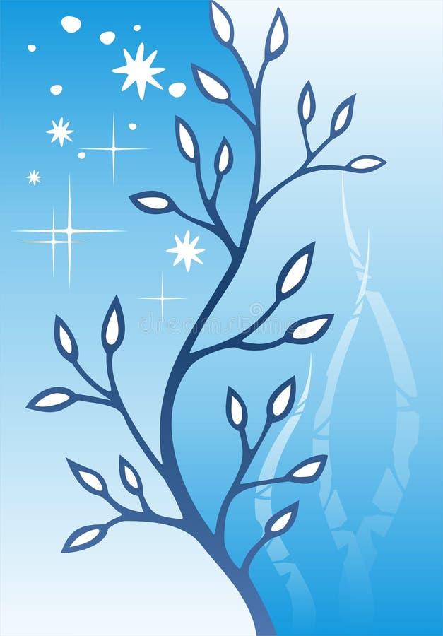 niebieski tła roślinnego ilustracja wektor