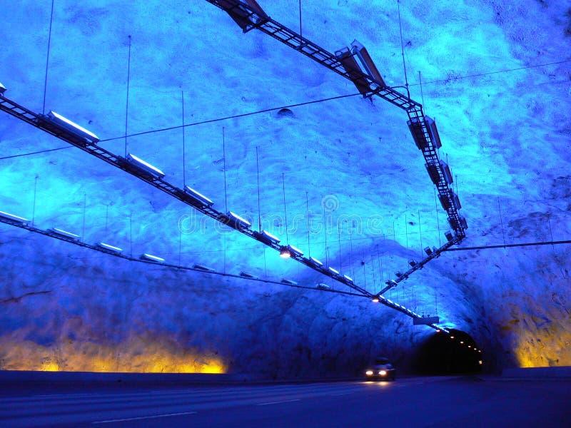 Niebieski Tunelu Fotografia Royalty Free