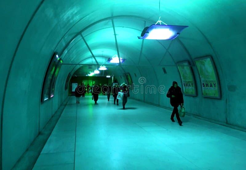 niebieski tunelu obraz stock