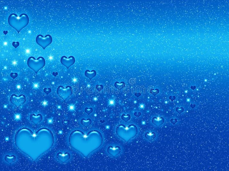 niebieski valentines tła ilustracja wektor