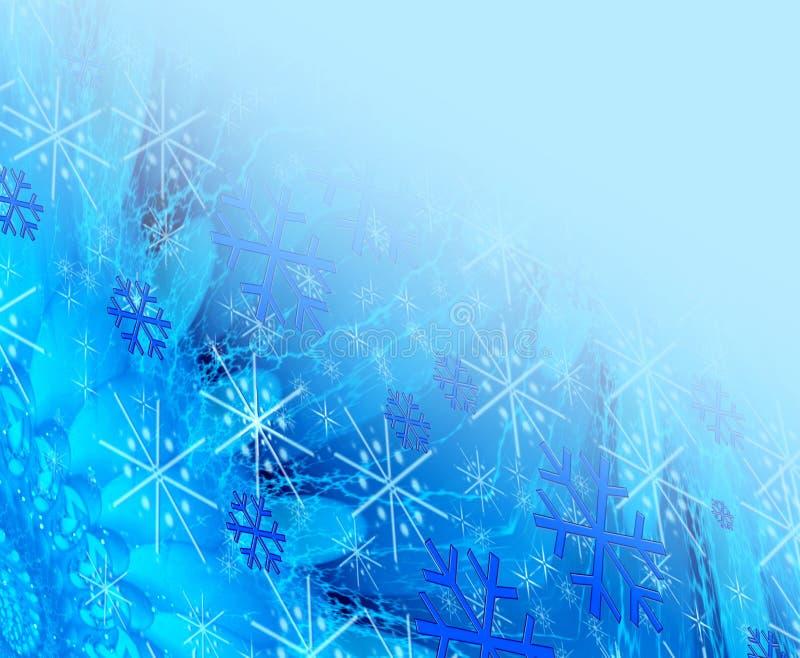 niebieski w boże narodzenie ilustracji