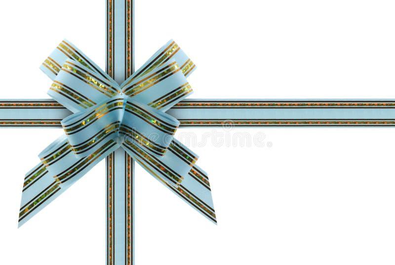 niebieski w ramach gratulacji wstążki fotografia stock