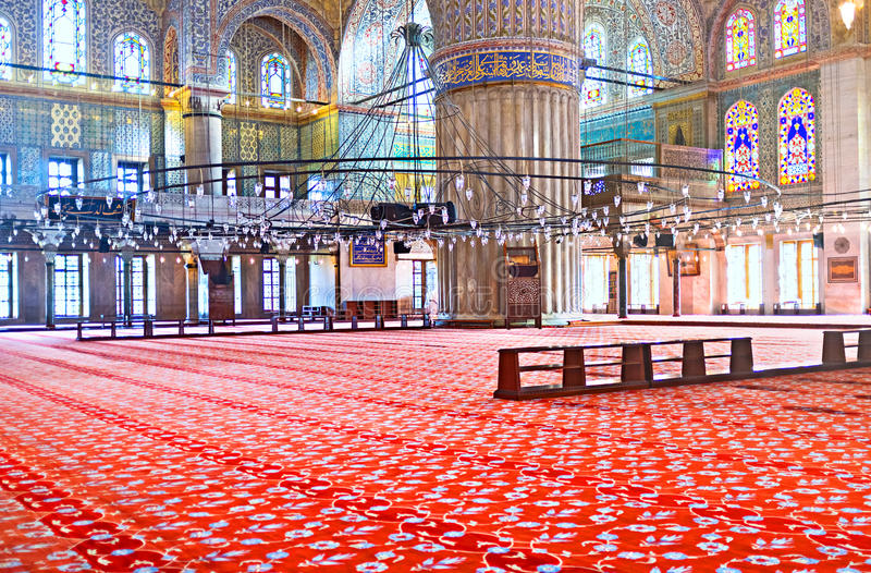 niebieski wewnętrznego meczetu obrazy stock