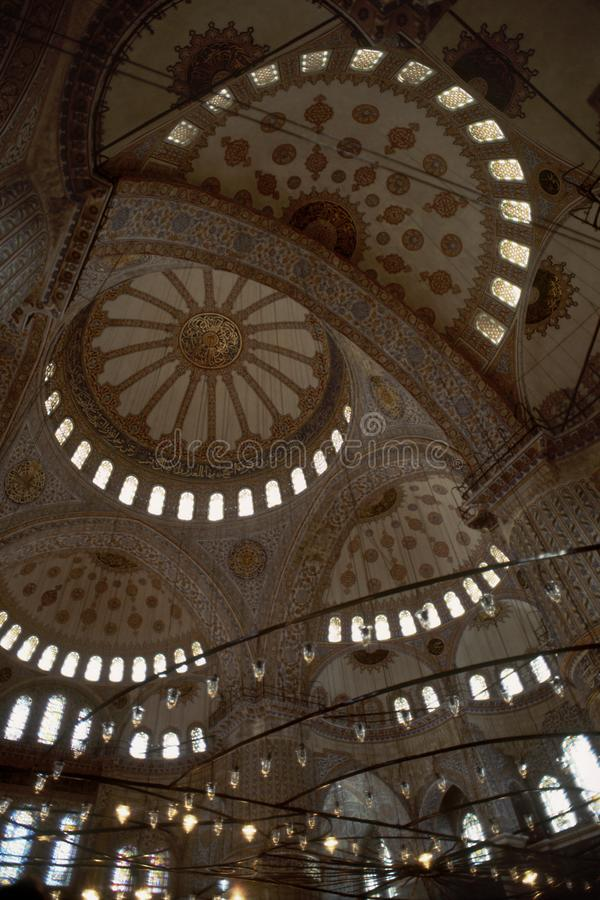 niebieski wewnętrznego meczetu Istanbuł, Turcja zdjęcie royalty free