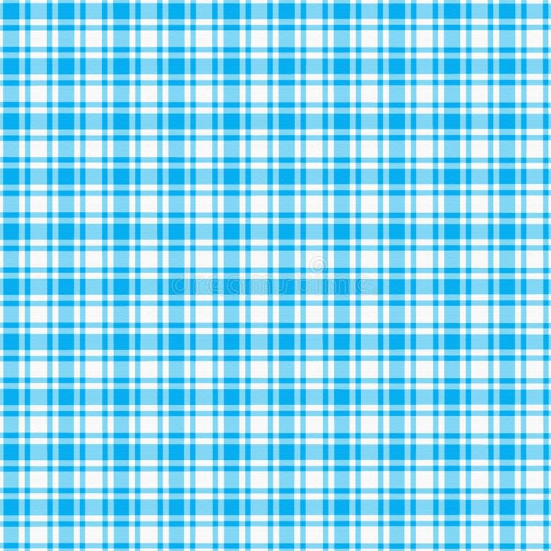 niebieski white w kratkę? ilustracja wektor