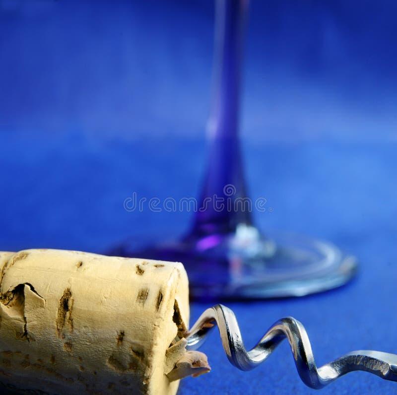 niebieski wino obraz stock