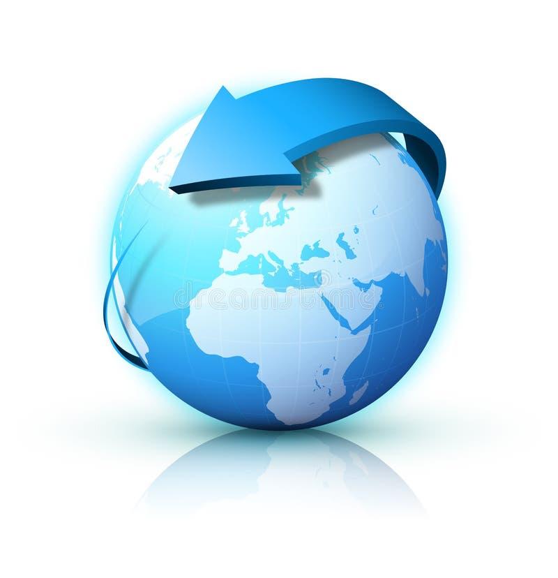 niebieski ziemi ilustracji