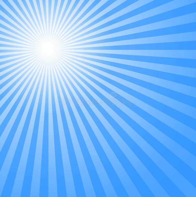 niebieski zimne słońce ilustracji