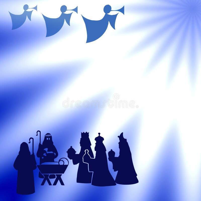 niebieskie święta ilustracji