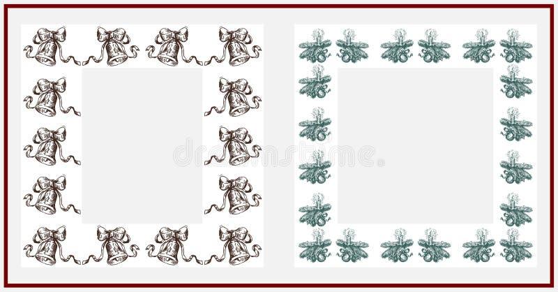 niebieskie święta ramowej magii royalty ilustracja