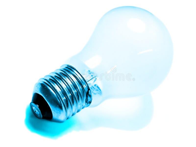 niebieskie światła żarówki fotografia royalty free