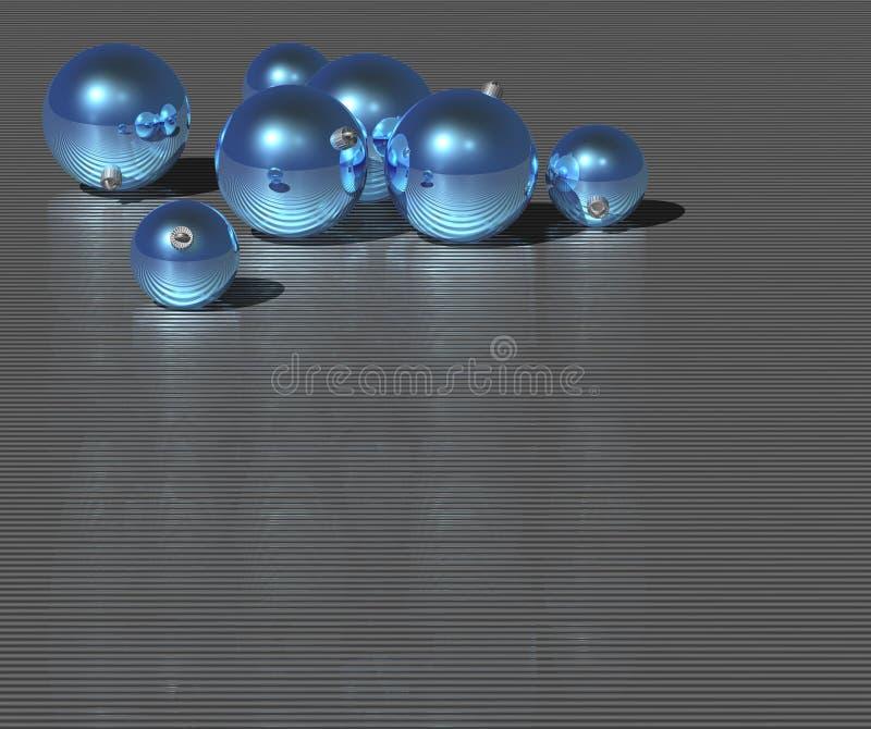 niebieskie bal Świąt royalty ilustracja
