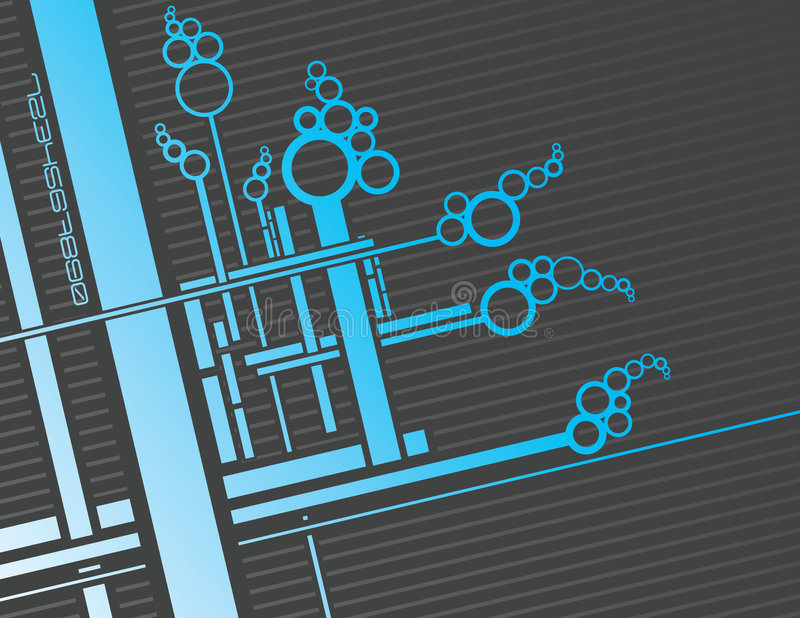 niebieskie ciruits ilustracja wektor