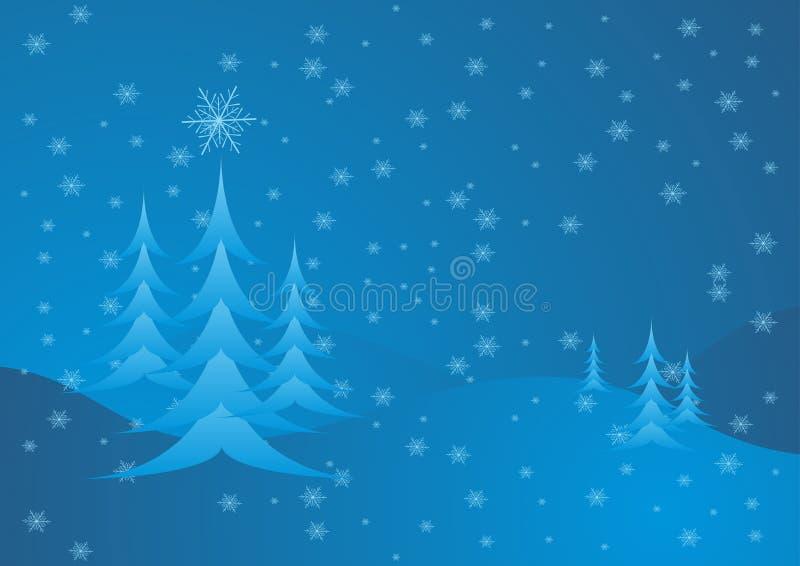 niebieskie drzewa ilustracji