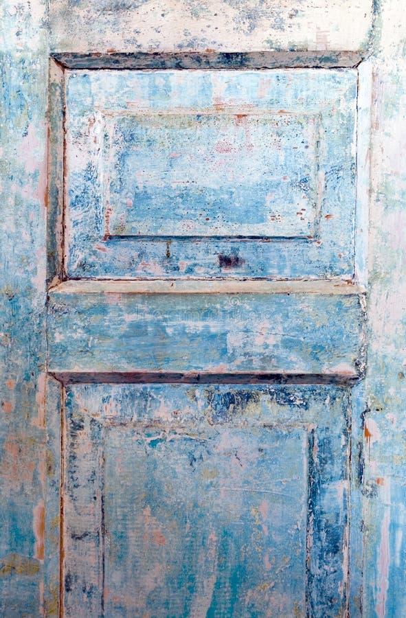 niebieskie drzwi crunch fotografia stock