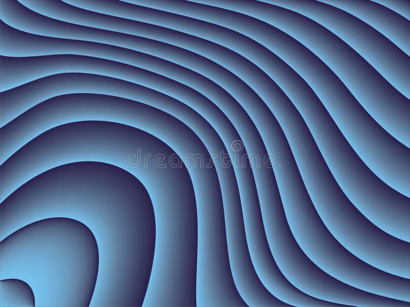 Download Niebieskie fale ilustracja wektor. Obraz złożonej z wzór - 5826650
