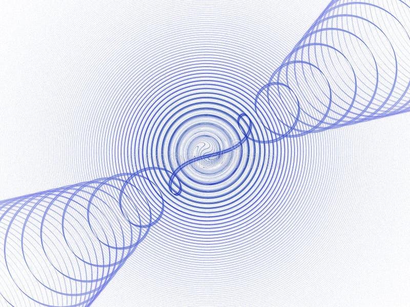 niebieskie fale dźwiękowe ilustracja wektor
