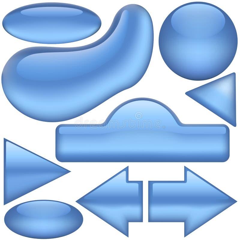 niebieskie guziki ilustracji