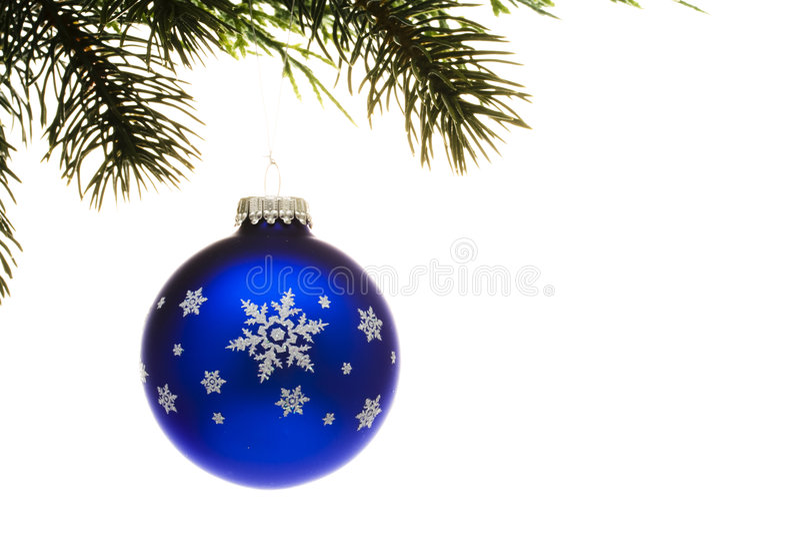 niebieskie gwiazdkę ornament szkła obraz stock