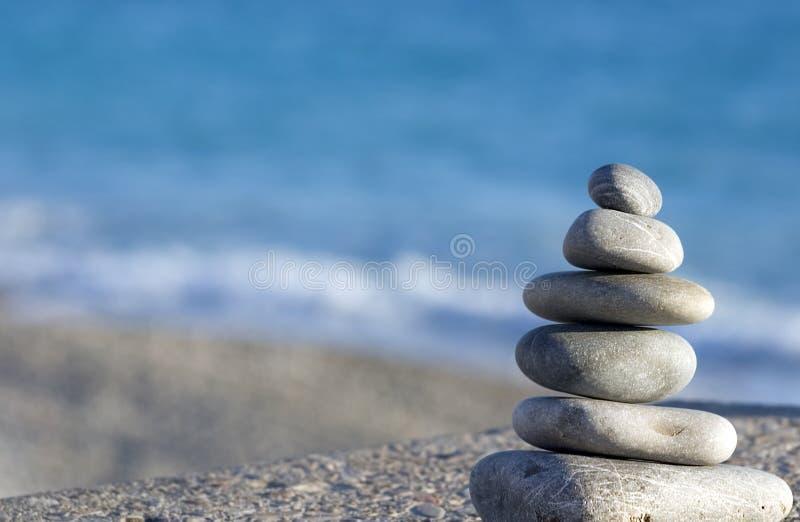 niebieskie kamienie morskie zdjęcie stock