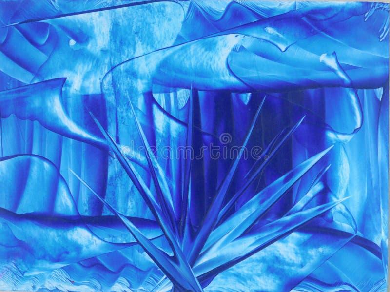 niebieskie kolce ilustracji