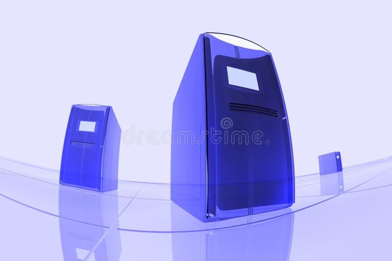niebieskie komputery. royalty ilustracja