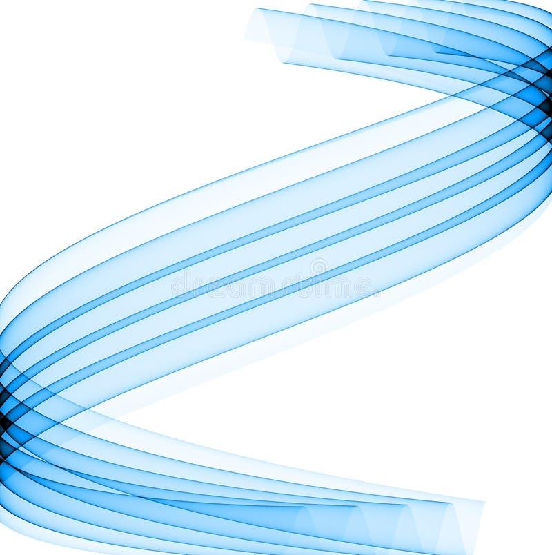 niebieskie krzywej royalty ilustracja