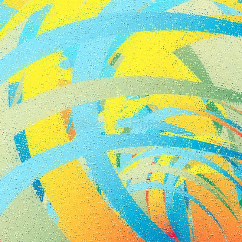 niebieskie linie kolor żółty ilustracja wektor