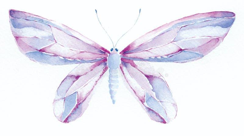 niebieskie masła purpurowy fantazji royalty ilustracja